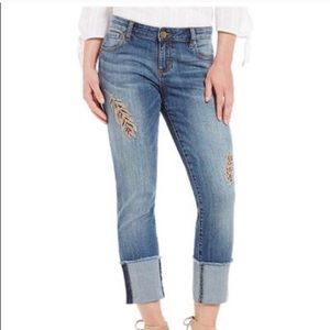 Kut fro the Kloth Cameron straight cuffed jeans